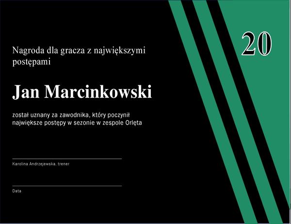 Nagroda dla zawodnika z największymi postępami
