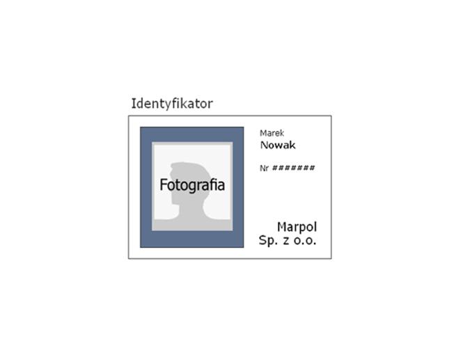 Identyfikator pracownika (orientacja pozioma)