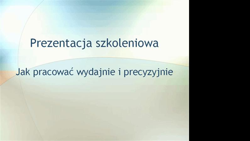 Prezentacja na seminarium szkoleniowe