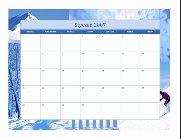 Kalendarz na rok 2007 (12 stron, pory roku)