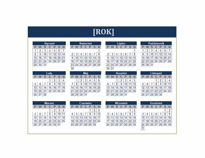 Kalendarz (dowolny rok)