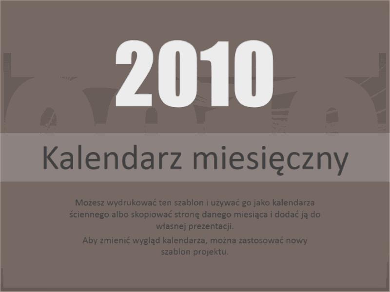Kalendarz na rok 2010 (pon.–niedz.)