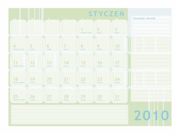 Kalendarz juliański na rok 2010