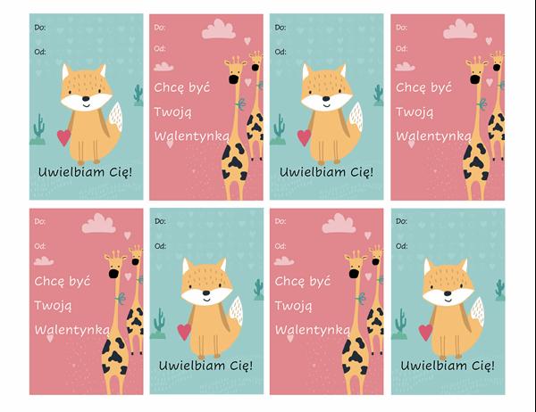 Kartki walentynkowe dla dzieci