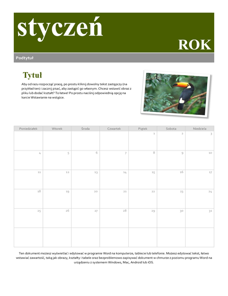 Kalendarz Migawka