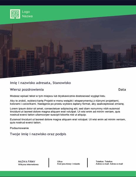 List biznesowy (motyw Zielony las)
