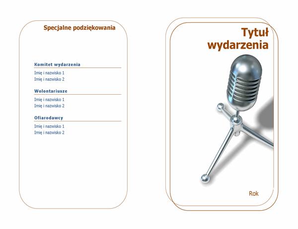 Program wydarzenia (składany na pół)