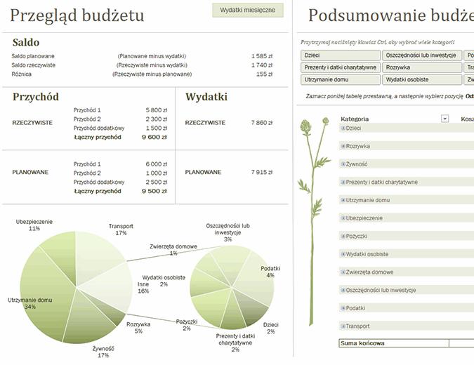 Budżet rodzinny (miesięczny)