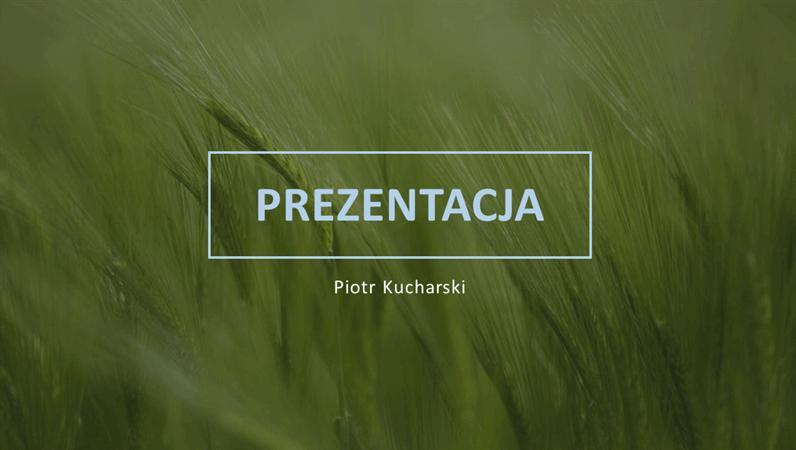 Zielona prezentacja