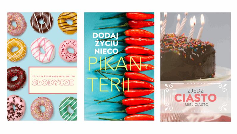 Plakaty zmotywem jedzenia