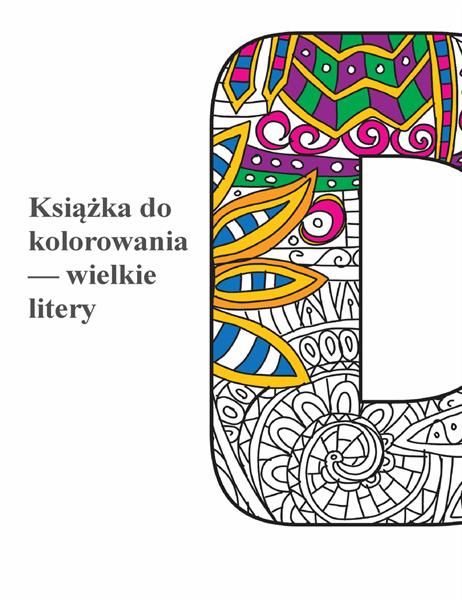 Książka do kolorowania — Wielkie litery
