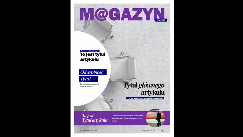 Okładka magazynu społecznego