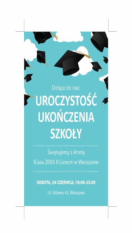 Zaproszenia na uroczystość ukończenia szkoły