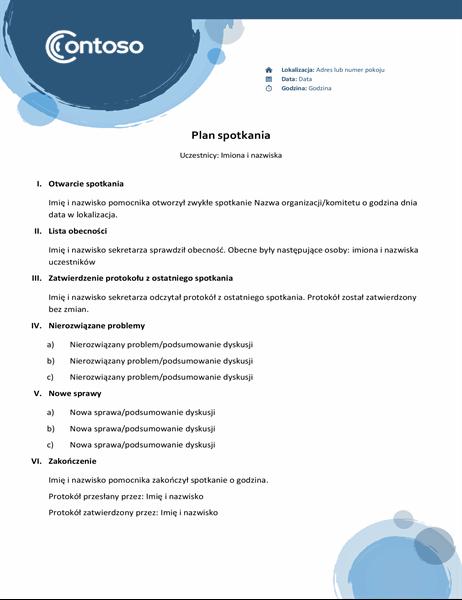 Plan niebieskie sfery