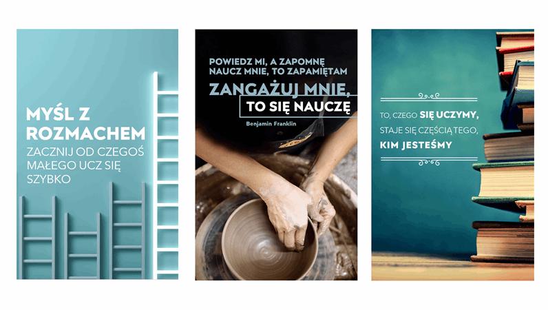 Plakaty z cytatami edukacyjnymi
