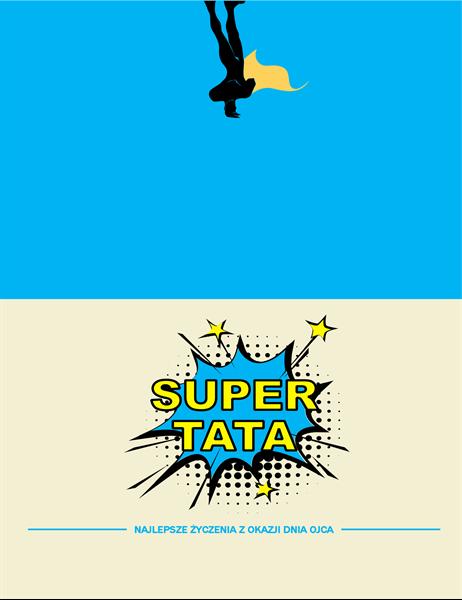 Karta z okazji Dnia Ojca Supertata