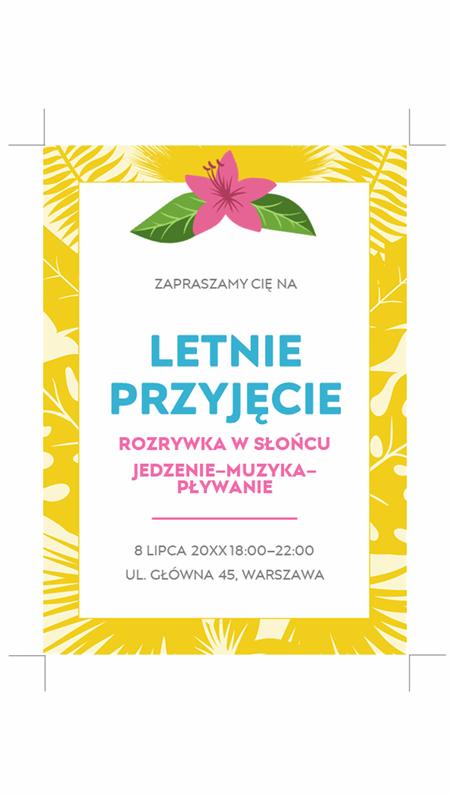 Letnie zaproszenia