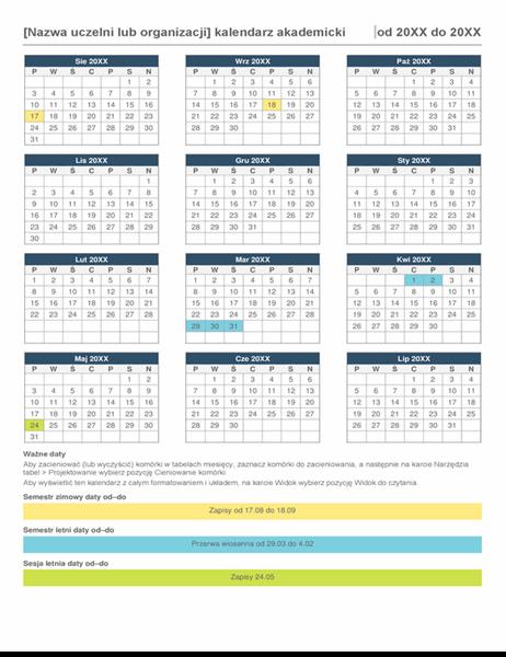 Kalendarz roku akademickiego