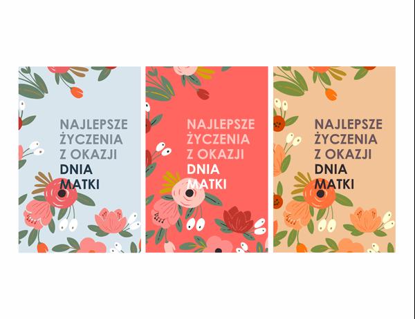 Elegancka kartka na Dzień Matki z motywem kwiatowym