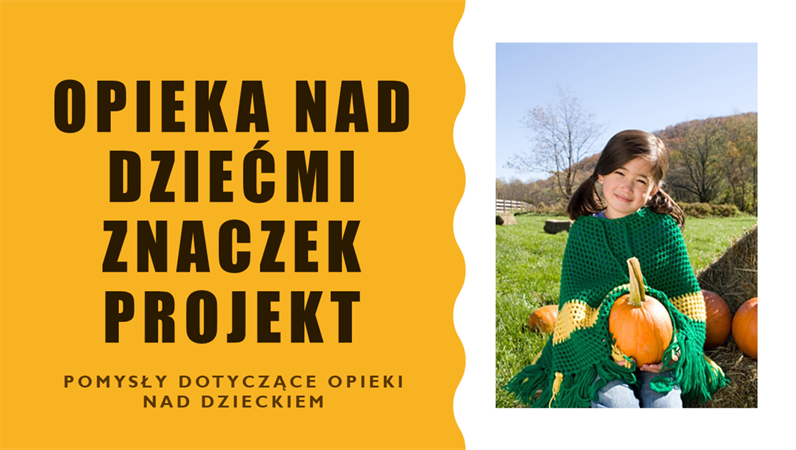 Projekt znaczka opieki nad dziećmi