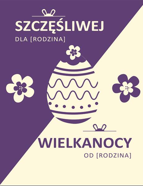 Fioletowa karta na Wielkanoc
