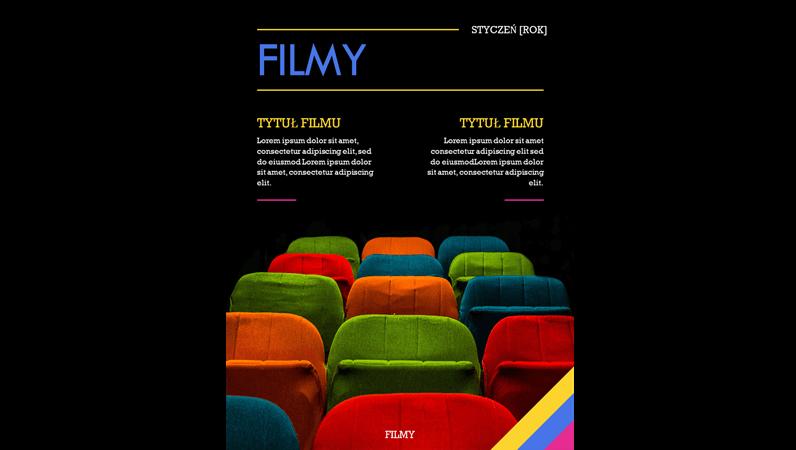 Okładka magazynu filmowego