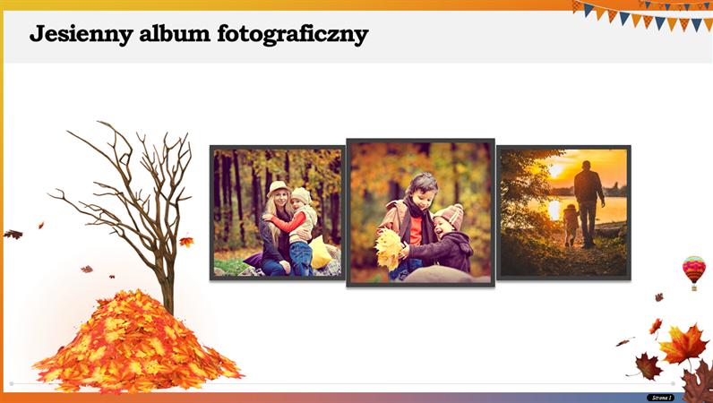 Jesienny album fotograficzny