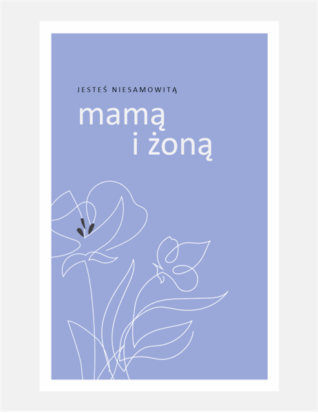 Elegancka kartka na Dzień Matki