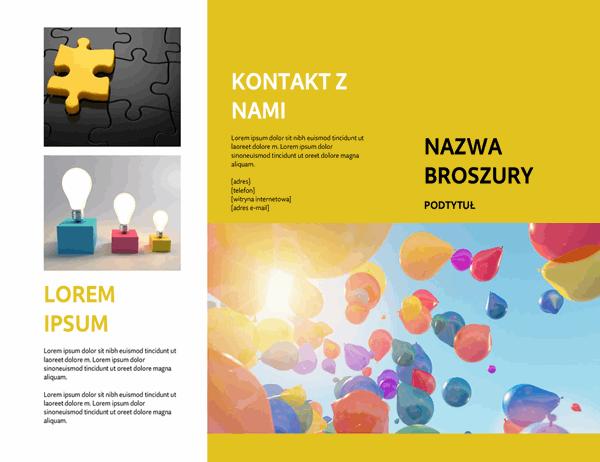 Żółta broszura o wydarzeniu