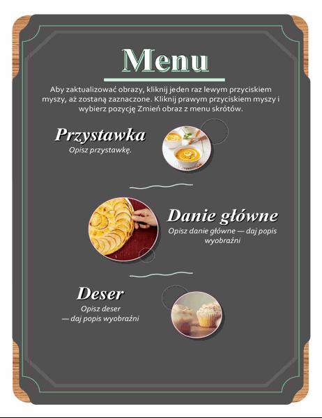 Podstawowe menu ze zdjęciami
