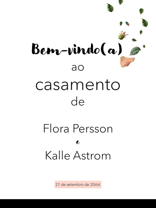 Cartazes de casamento florais