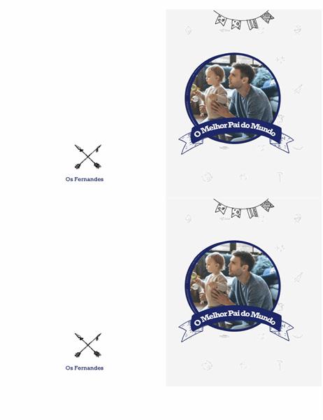 Cartão melhor pai do mundo (2 por página)