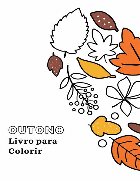 Livro para colorir sobre o outono