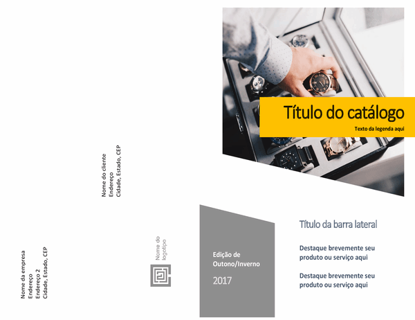 Catálogo de produtos (design de formulários, meia dobra, 8 páginas)