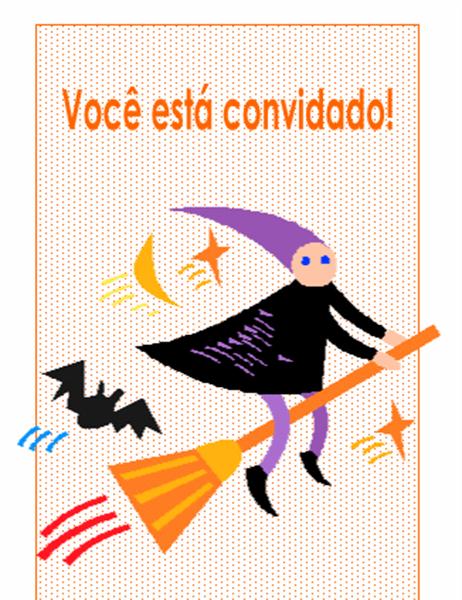 Convite para festa de Dia das Bruxas