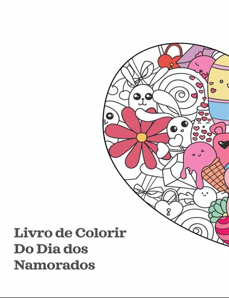 Livro para colorir do Dia de São Valentim