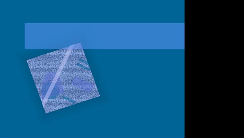 Modelo de design Onda azul