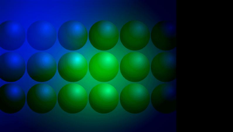 Modelo de design de bolas azuis e verdes