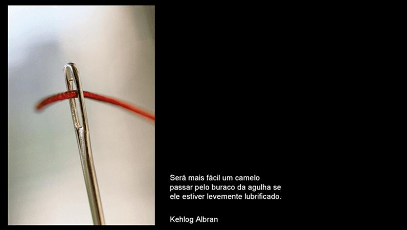 Slide com imagem O buraco da agulha