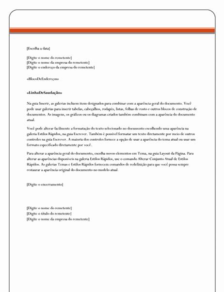 Carta de mala direta (tema Igualdade)