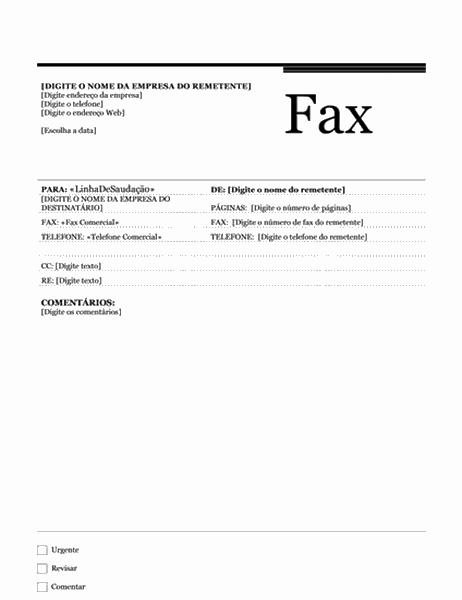 Fax de mala direta (tema Urbano)