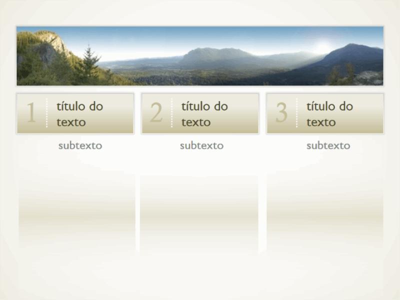 Imagem com três colunas de texto