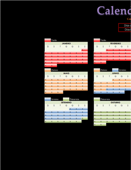 Calendário de contagem regressiva