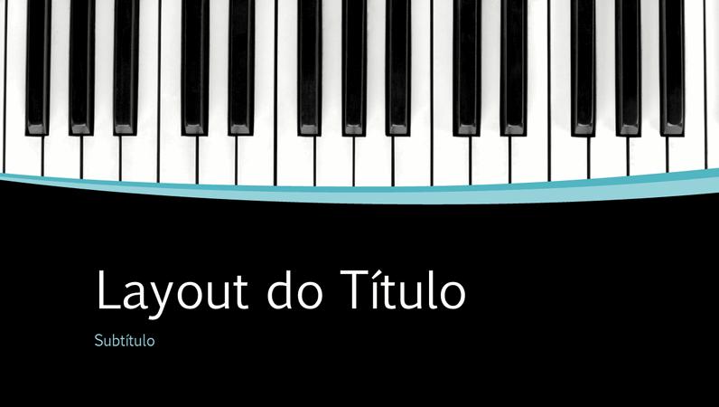 Apresentação com curvas musicais (widescreen)