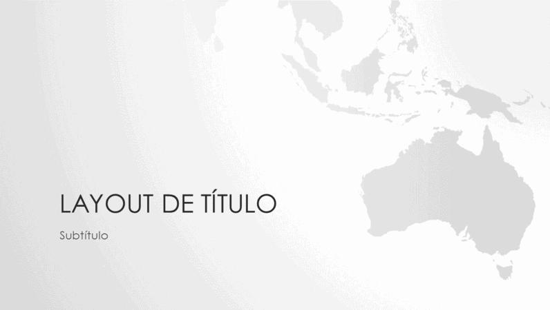Série mapas-múndi: apresentação continente australiano (widescreen)