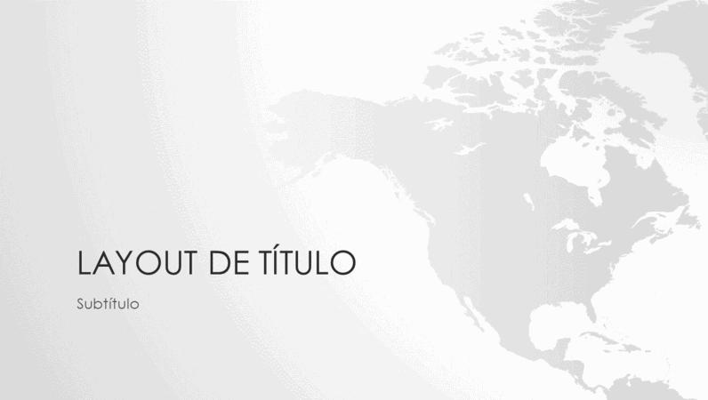 Apresentação de série de mapas mundiais e do continente norte-americano (widescreen)
