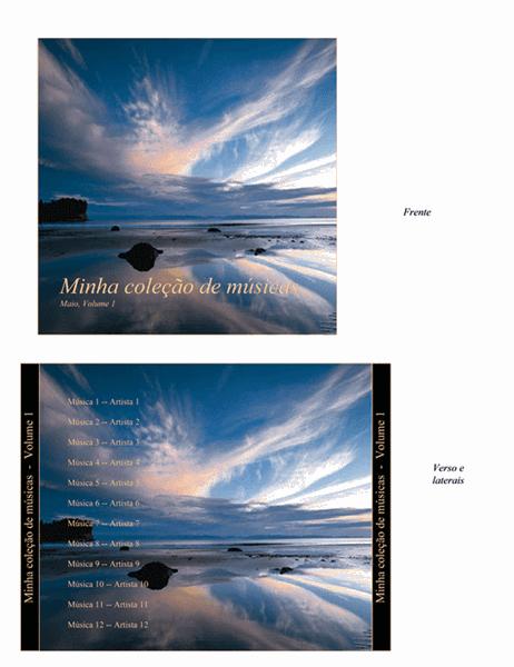 Encarte de CD de coletânea de músicas