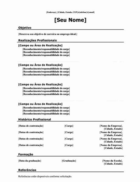 Currículo funcional (design Tradicional)