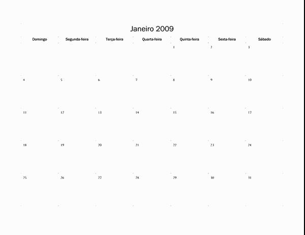 Calendário de 2009 (design básico)