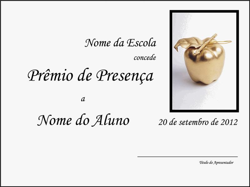 Prêmio de Presença - segundo grau